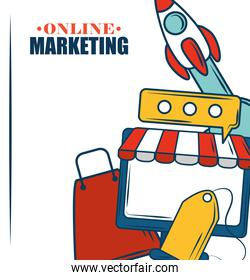 marketing online shopping bag tag price commerce poster
