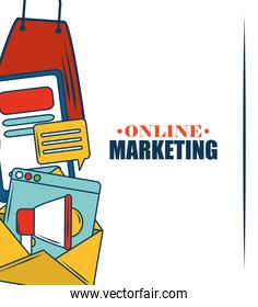 marketing online commerce website email announce and advertising