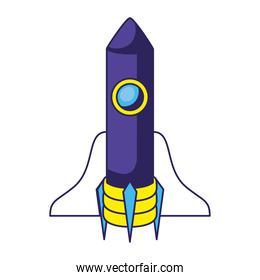 colored rocket icon on a white background