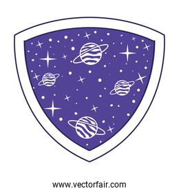patch with saturn on it