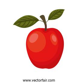 apple with a red color
