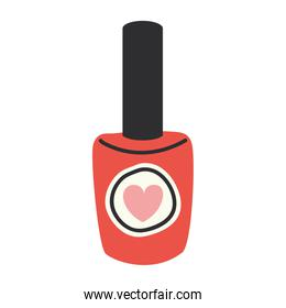 red polish bottle with one heart in it