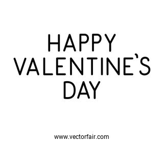 happy valentines day lettering with a white background