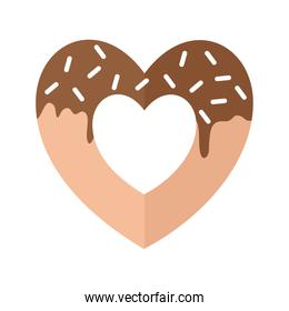 donut with form of a heart