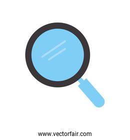 magnify glass with a blue color