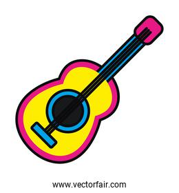 musical guitar icon, colorful design