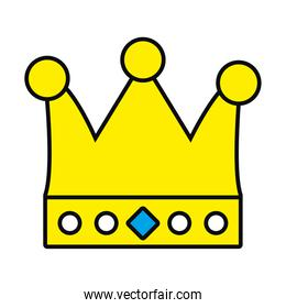 queen crown icon, colorful design