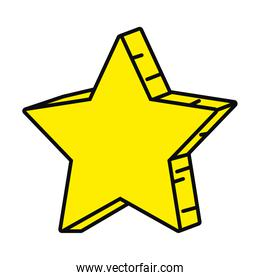yellow star design, colorful style