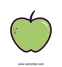 apple fruit line and fill style icon vector design