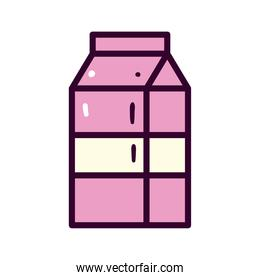 milk bottle line and fill style icon vector design