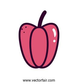 pepper vegetable line and fill style icon vector design