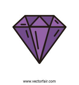 diamond icon isolated vector design