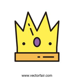 royal crown icon vector design