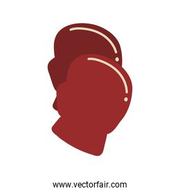 Boxing gloves isolated vector design