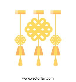 chinese three gold lamps vector design