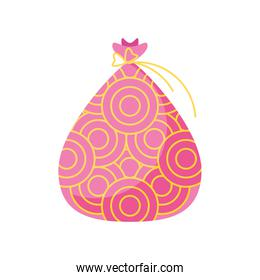 chinese pink bag vector design