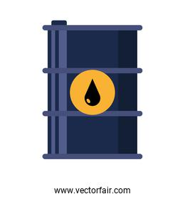 barrel tank with drop of oil price icon