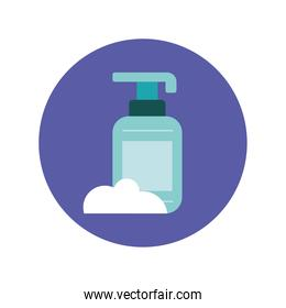 antibacterial soap bottle product icon