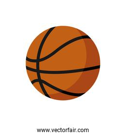 basketball balloon isolated style icon