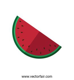 watermelon half fruit isolated icon
