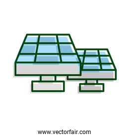 energy solar panels ecology line and fill icon