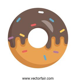 delicious sweet chocolate donut isolated icon