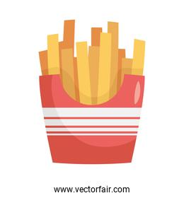 delicious french fries fast food icon
