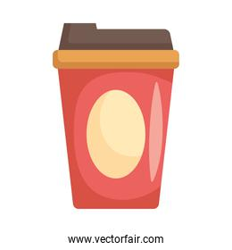 beverage in plastic container isolated icon