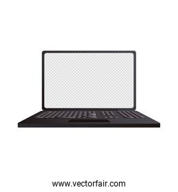 laptop computer portable mockup isolated icon