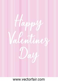 happy valentines day card with lines vector design