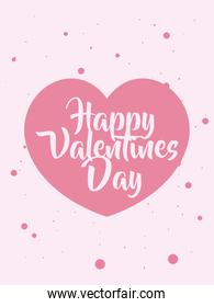 happy valentines day card with heart vector design