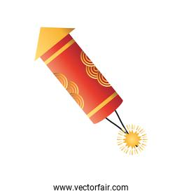 celebration firework icon vector design