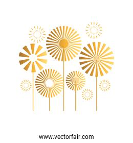 celebration fireworks explosions vector design