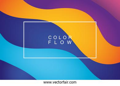 vivid color flow with rectangle frame background