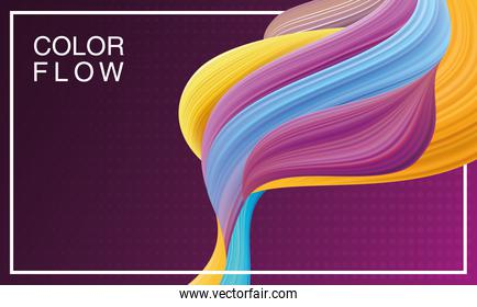 color flow background template poster