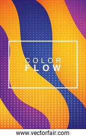 color vivid flow with rectangle frame background
