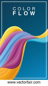 color flow background poster template
