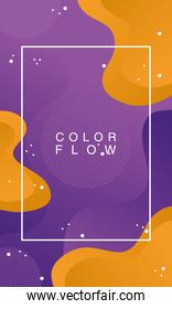 color flow with rectangle frame background