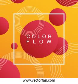 vivid color flow with square frame background template