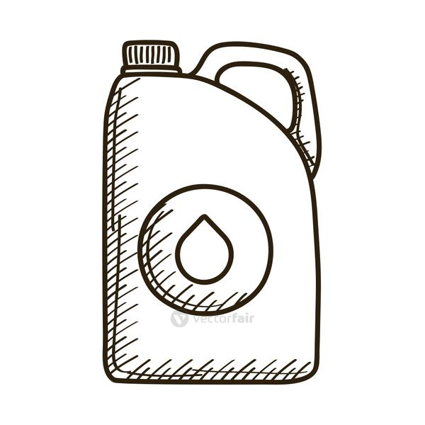 gallon tank of oil with drop drawn style