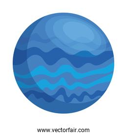 space planet blue color isolated style icon