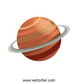 saturn planet isolated style icon