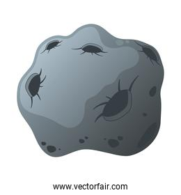 asteroid stone isolated style icon