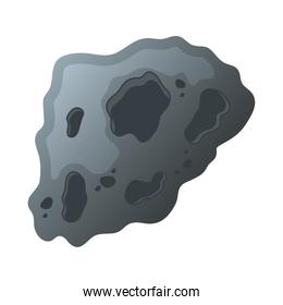 asteroid rock stone isolated style icon