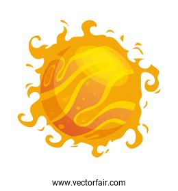 sun star with storm isolated style icon