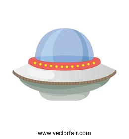 ufo flying space isolated style icon
