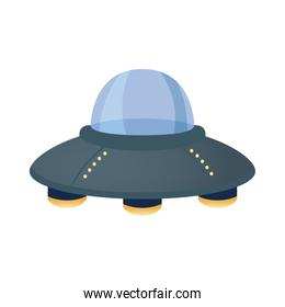ufo flying space isolated style