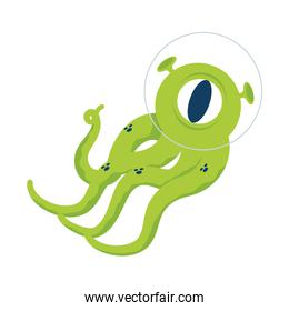 alien comic character with tentacles