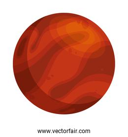 space planet red color isolated style icon