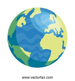 world earth planet isolated style icon